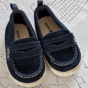 Toddler navy suede loafers